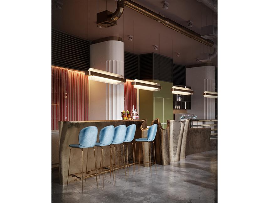 Luxury Bar Room Interior Idea