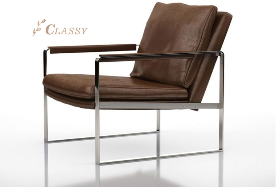 Classical Style leather Seat Leisure Armchair