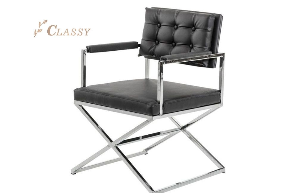 Black Leather Office Armchair