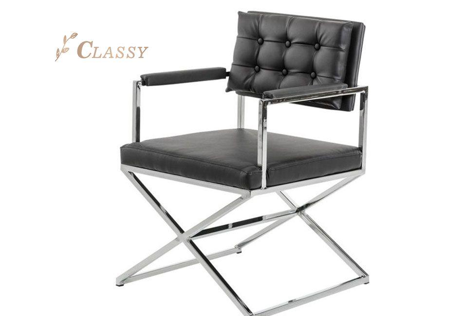 Black Leather Office Armchair