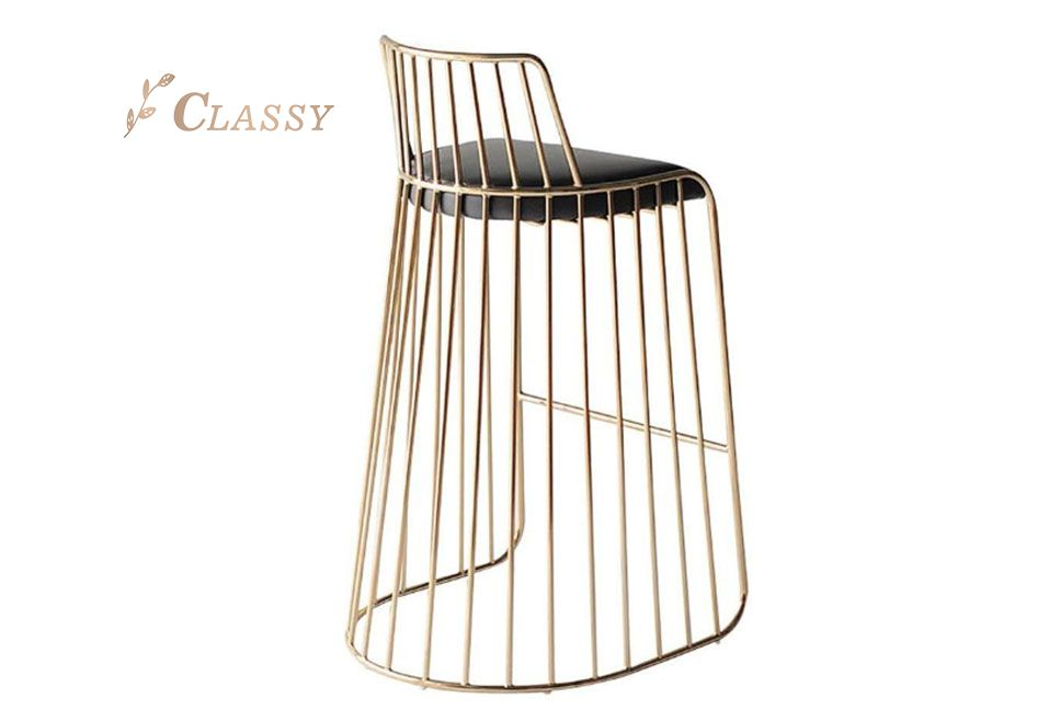 Metal Structure Base Bar Chair