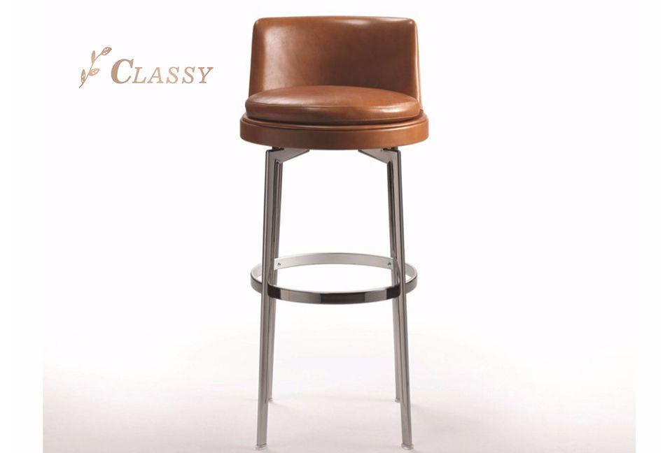 Classic Design Leather Bar Chair