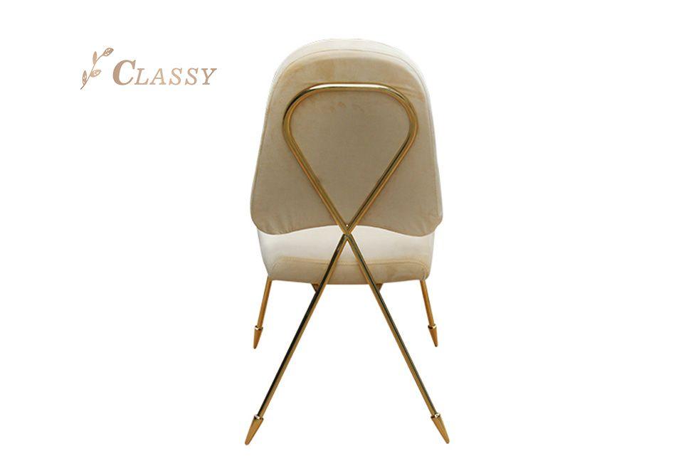 Tubular Metal Legs Dining Chair