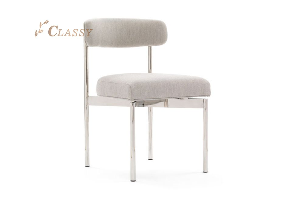 Solid Built Stainless Steel Dining Chair