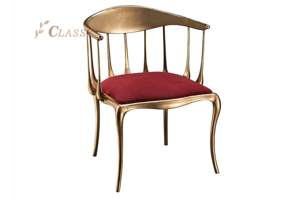 Luxury Polished Stainless Steel Chair