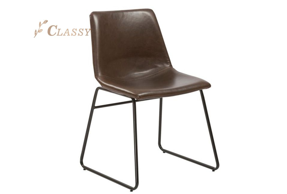 Antique Design Leather Dining Chair
