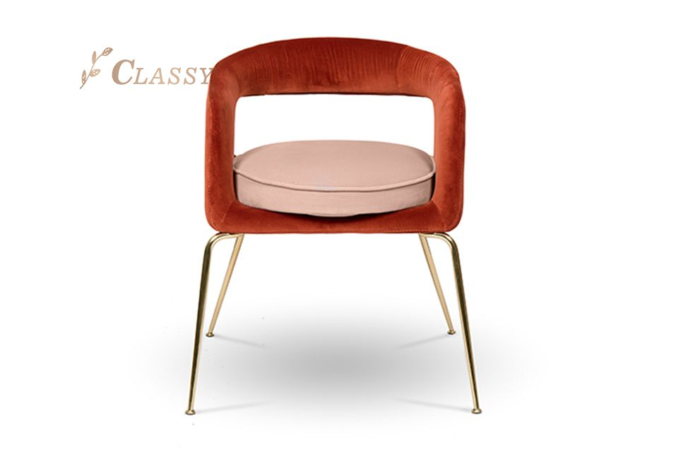 Elegant Shape Velvet Chair