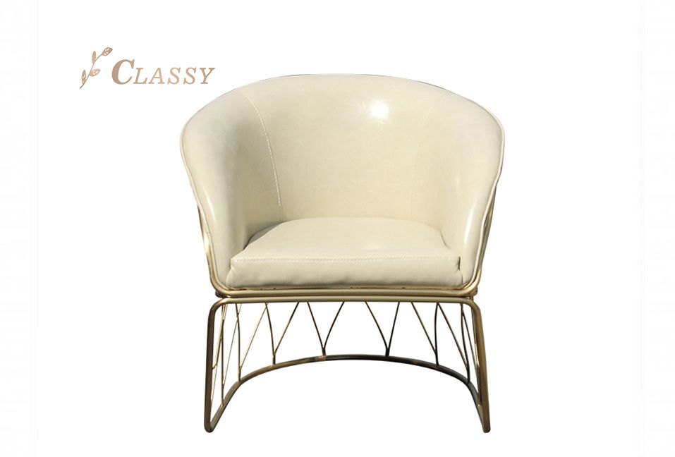 New design Armchair with Leather Covered