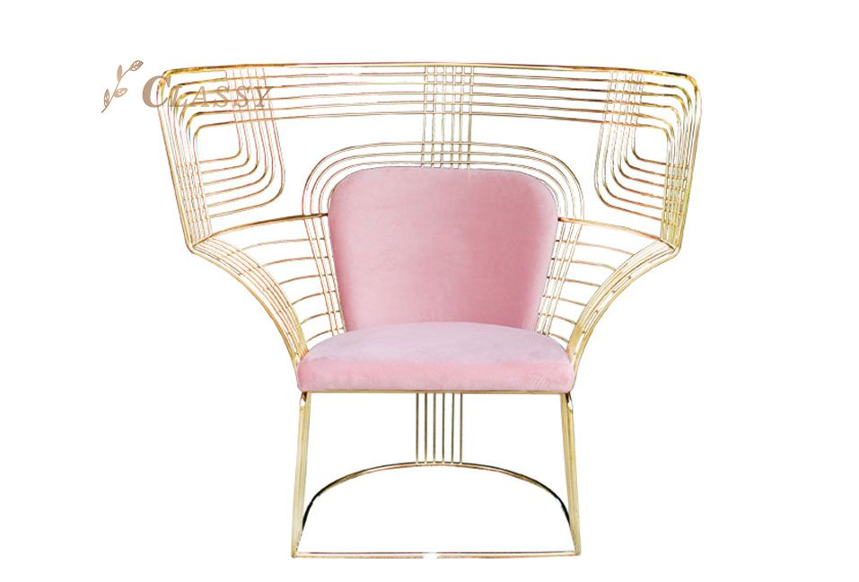 Geometric Shape Metal Leisure Chair