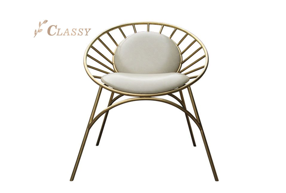 Cool design Polished Stainless Steel Chair