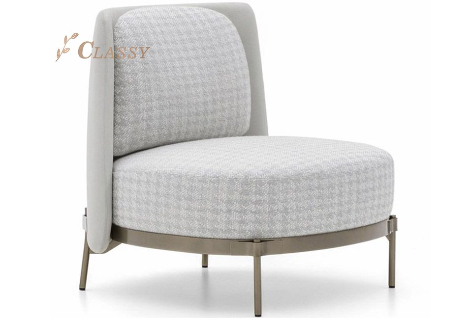 Fabric Round Seating Accent Chair