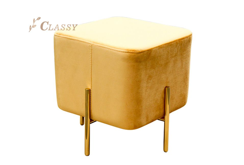 Square Shape Yellow Stool