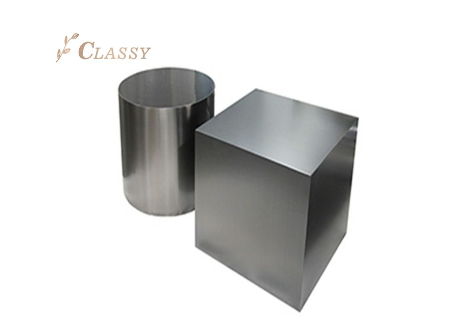 Geometric Shape Metal Stool