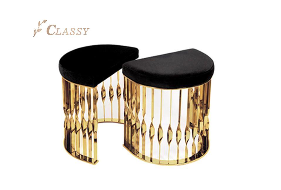 Luxury Golden Base Stool