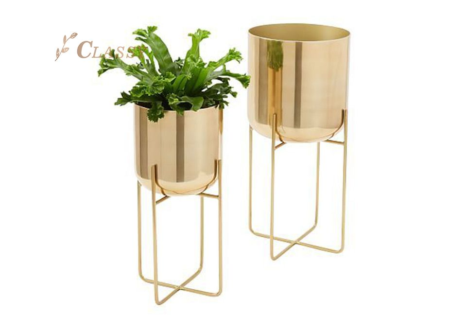 Shining Metal Vase for indoor and outdoor