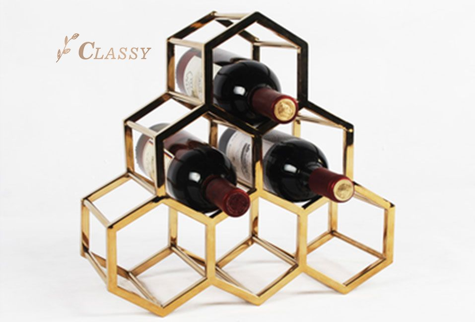Luxury Metal Wine Rack