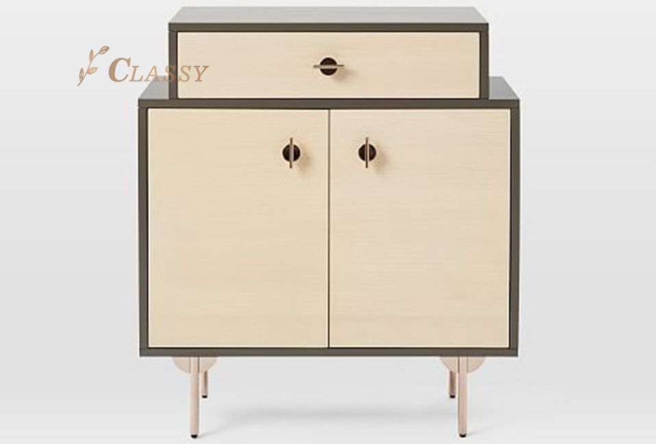 Rose Golden Cabinet for Home Use