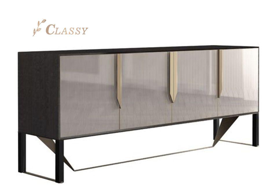 Modern Style Metal Sideboard Cabinet