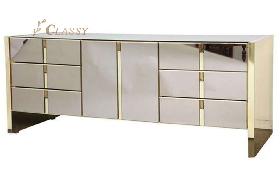 Mirrored Stainless Steel Cabinet