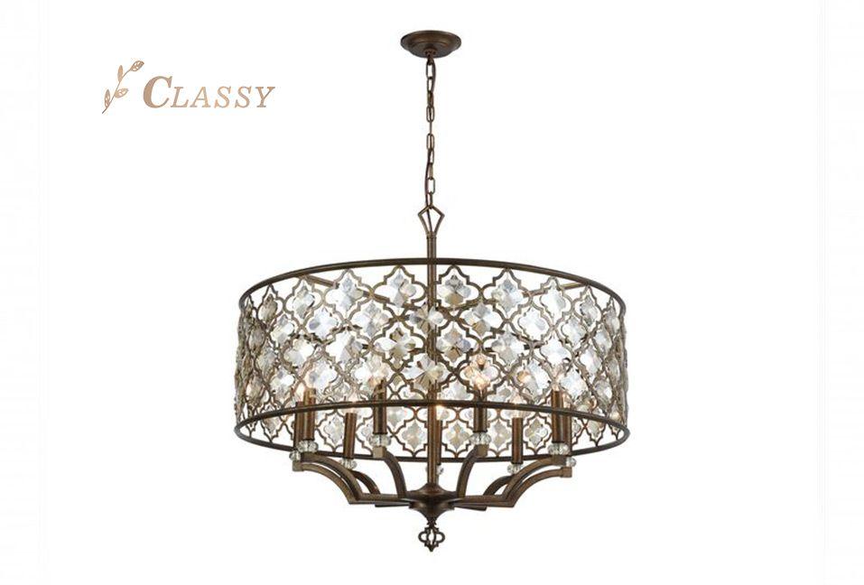 Mid Century Design Golden Lamp for Hotel