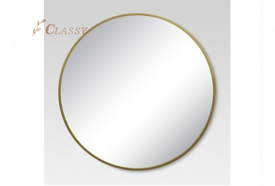 Large Round Simple Design Wall Mirror