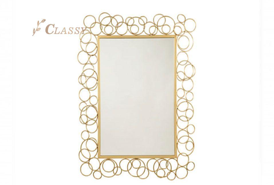 Rectangular Wall Mirror with Metal Frame