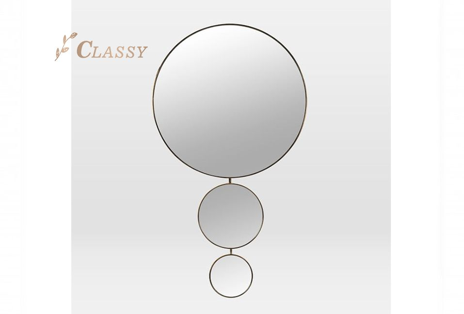 Round Decorative Wall Mirror for Home Use