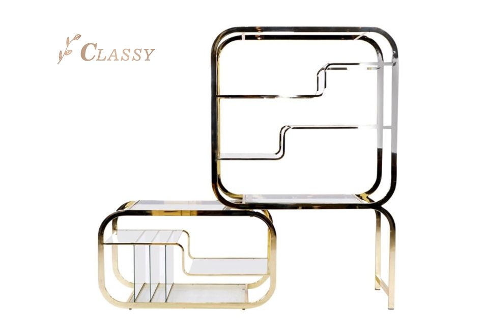 Unique Shape Fashion Side Shelf