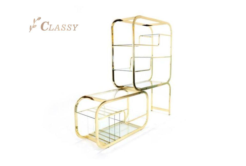 Unique Shape Fashion Side Shelf
