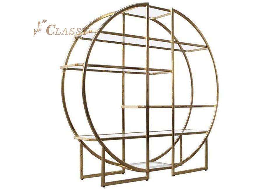 Round Shape Open Side Shelf