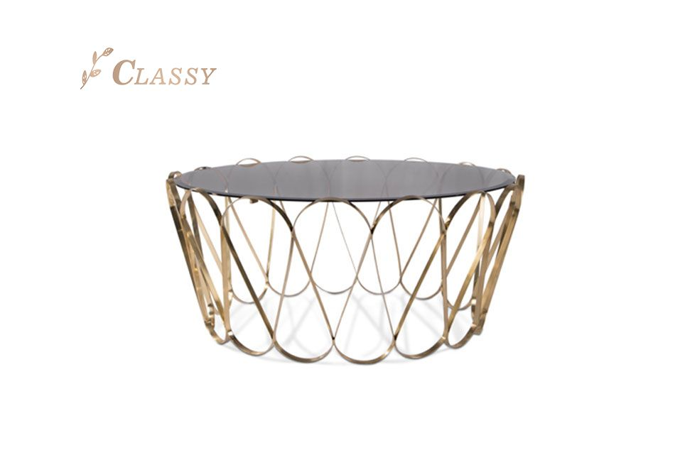 Brushed Stainless Steel Coffee Table