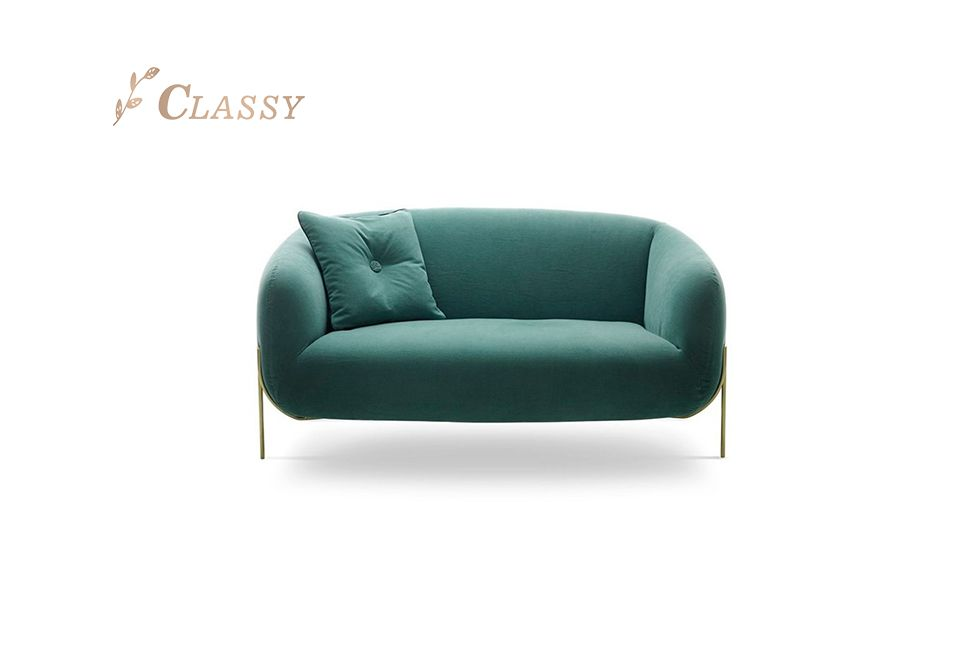 Glamour Lounge Sofa Upholstered in Fabric