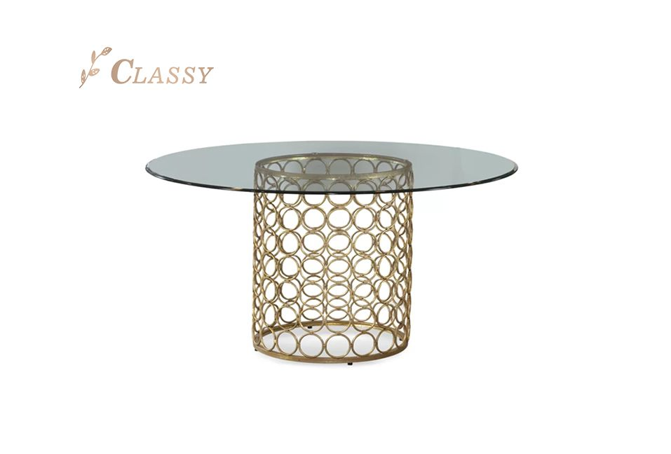 Round Shape Glass Dining Table