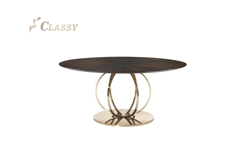 Mid-century Design Wood Dining Table