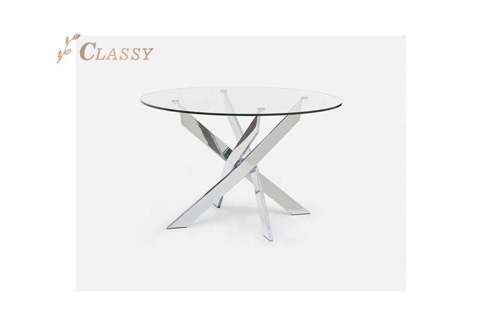 Glass Top Modern Dining Table