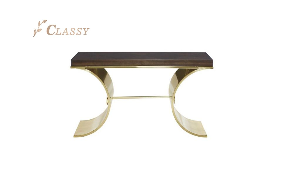 Wood Top Console Table
