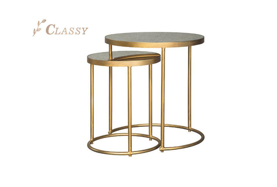 Golden Nesting Side Tables