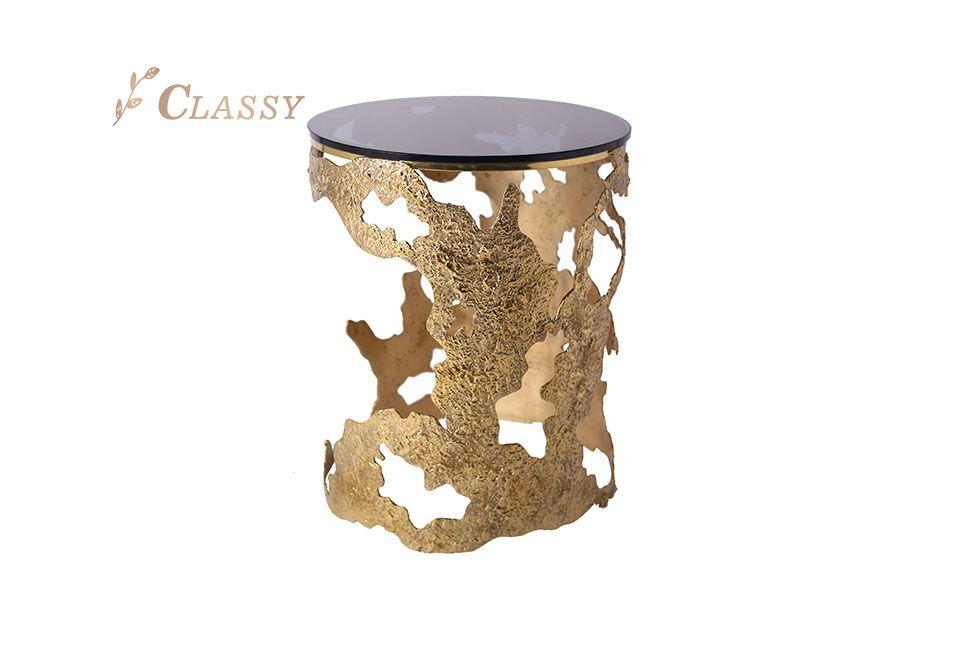 Luxury Glass Side Table