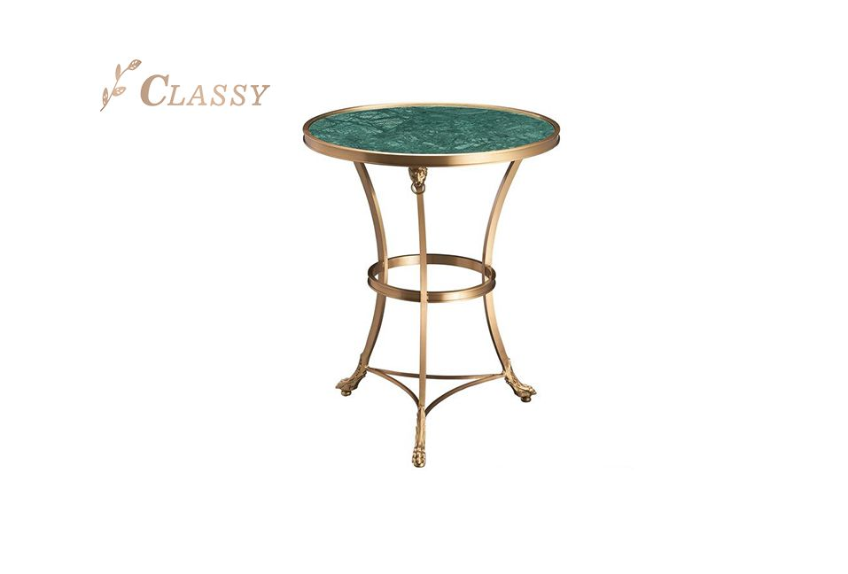 Mid-Century Marble Side Table