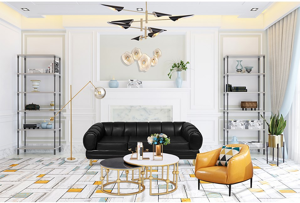Modern Bright Style Living Room Design