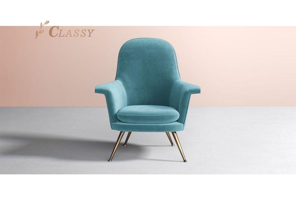 Soft Velvet Living Room Armchair