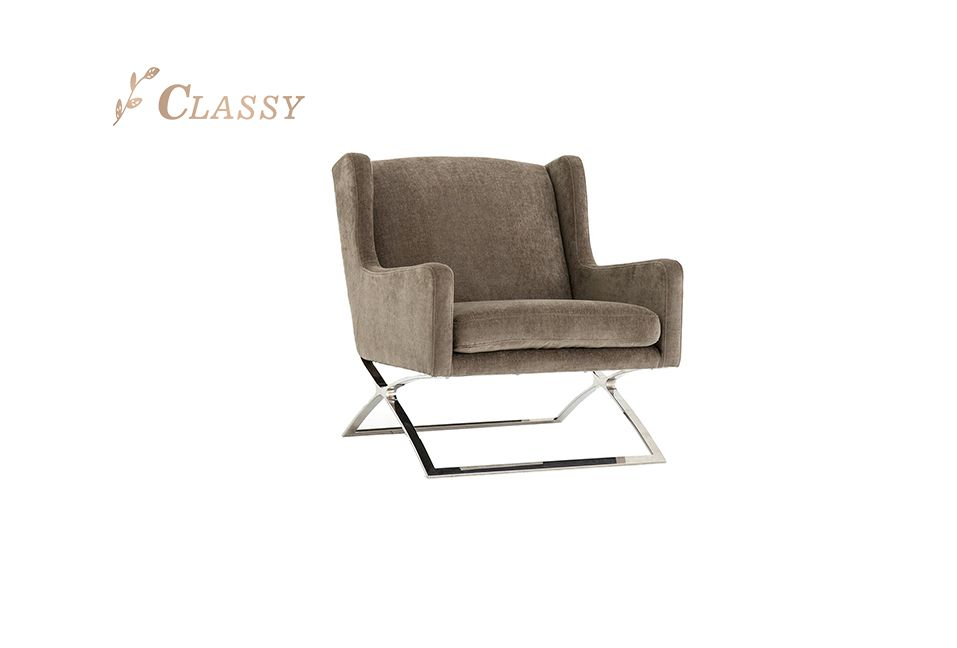 Comfortable Grey Occasional Armchair