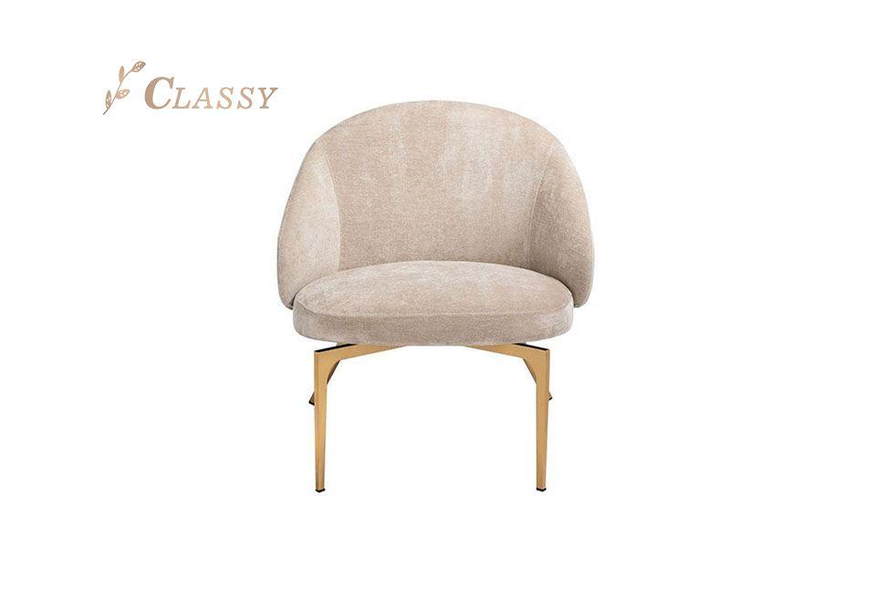 Rose Gold Metal Armchair