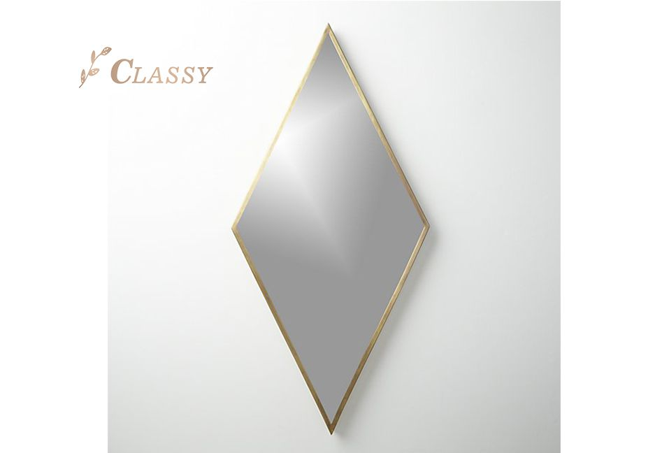 Hotel Bedroom Brass Frame Mirror