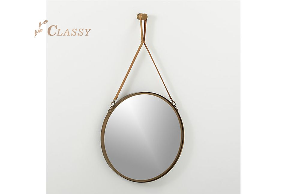 Hotel Decorative Mirror with Leather Strap