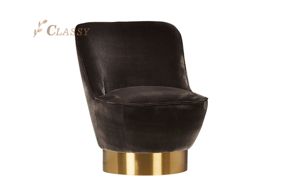 Modern Velvet Club Chair