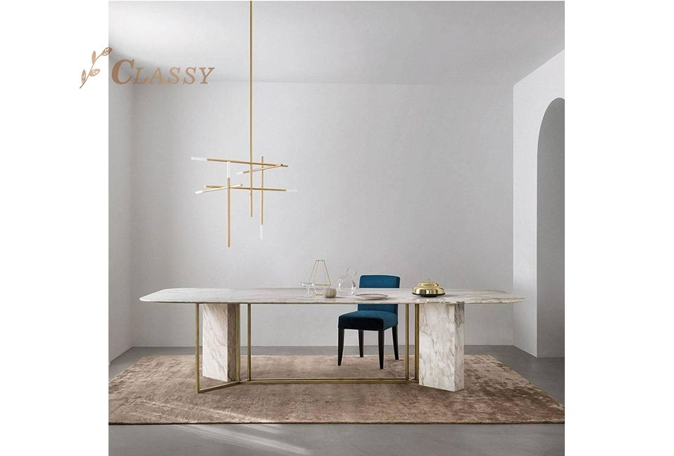 New Design Marble Dining Table Modern Dining Room Furniture