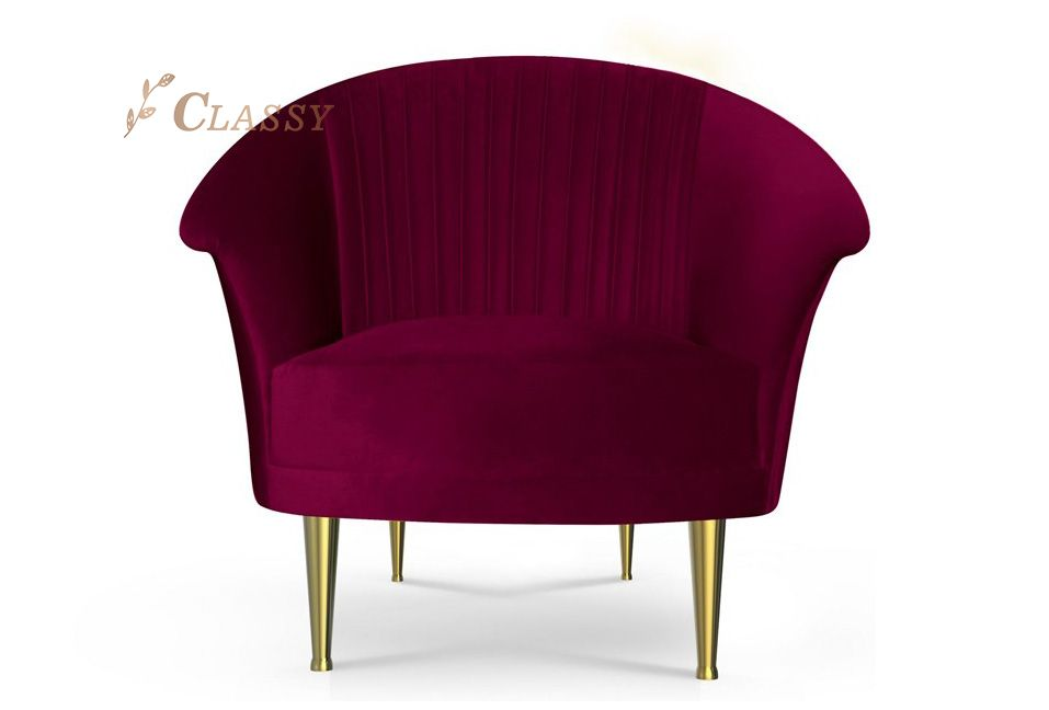 Comfortable Velvet Accent Chair