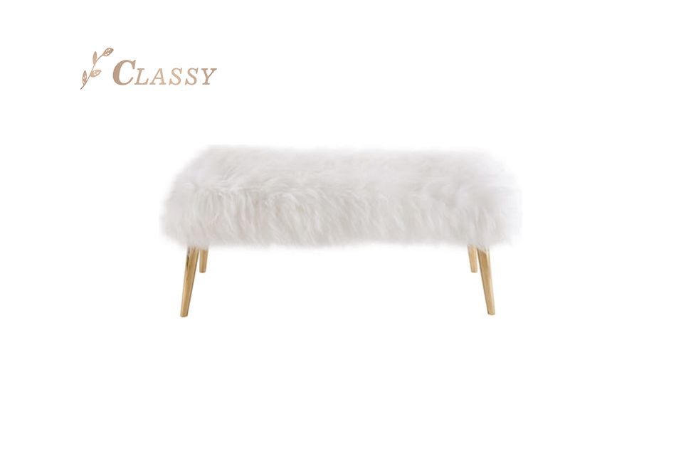 Wool Fur Bedroom Stools
