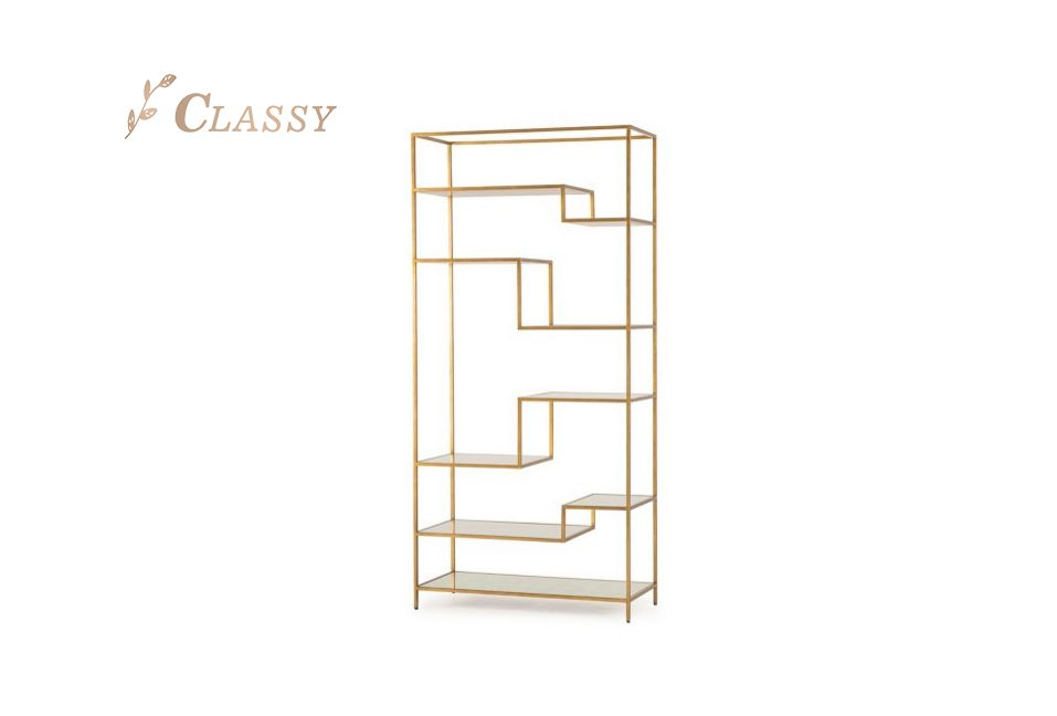 Modern Gold Metal Book Shelf